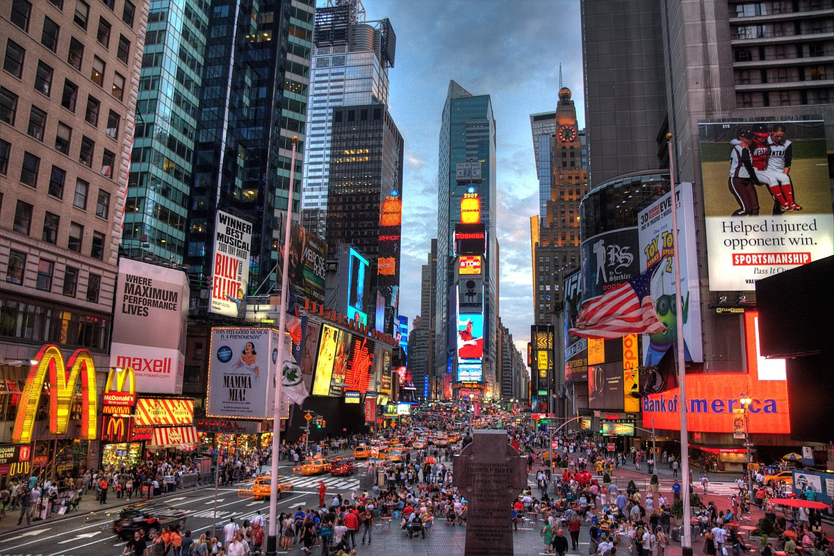 Times Square - Places To Visit In New York City