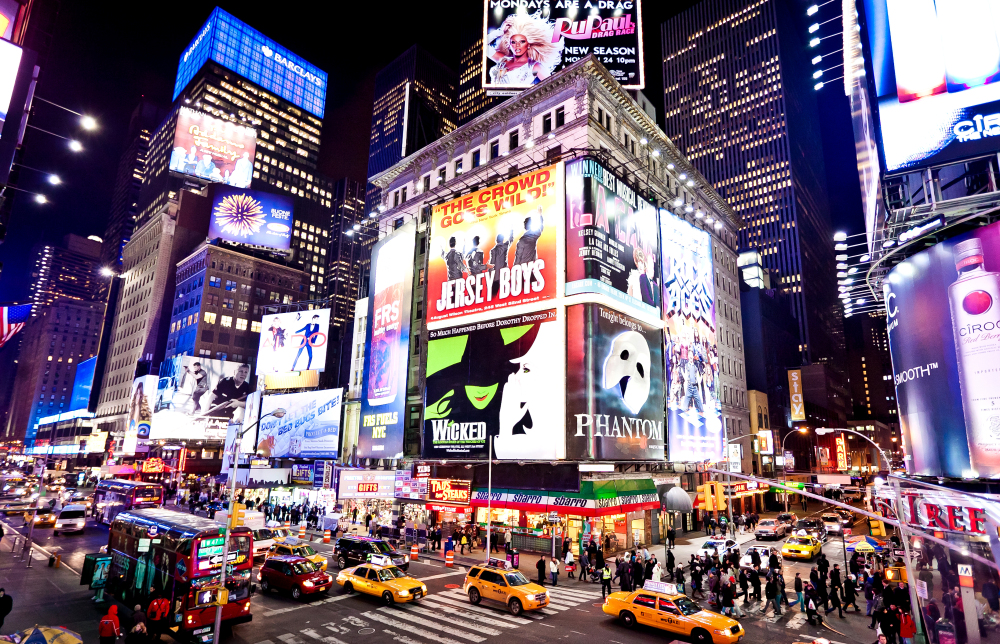 Broadway Show advertisements on Times Square, Major Attractions at the Times Square