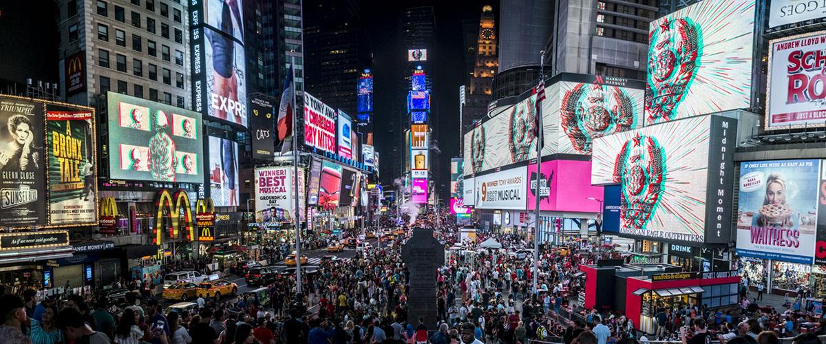 Major Attractions at the Times Square